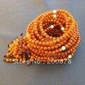 BRO696  Tibetan 108 Orange Beeswax MILA Rosaries,3.8mm,3.6g,Natural Baltic Amber Prayer Beads Mala,girls bracelet,Free shipping