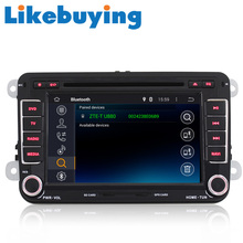 "Likebuying 2 Din  7"" Quad Core 1024*600  Pure Kitkat Android Radio Car DVD Stereo  GPS Navi for VW Volkswagen Passat Polo Golf"