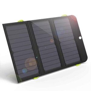 Image 1 - ALLPOWERS powerbank na energię słoneczną 5V 21W szybkie ładowanie ładowarka solarna dla iPhone 6 6s 7 7plus 8 X Samsung Xiaomi Huaming Sony HTC LG