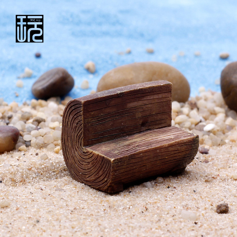 Phenomenal Us 1 0 Resin Wooden Bench Mini Park Chair Model Ornaments Fairy Garden Miniatures Home Desktop Succulents Micro Landscape Decoration In Figurines Caraccident5 Cool Chair Designs And Ideas Caraccident5Info