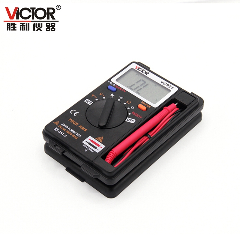 VICTOR DMM Integrated Personal Mini Digital Multimeter Pocket Capacitance Resistance Frequency Tester DC AC Voltage Meter