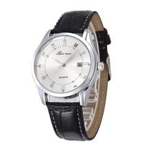 Elegante Männer Kleid Uhr Mode Leder Quarz Mann Uhren Luxus Männer der Armbanduhr Männlichen Casual Uhr Stunde Erkek Kol Saati # 2TMF