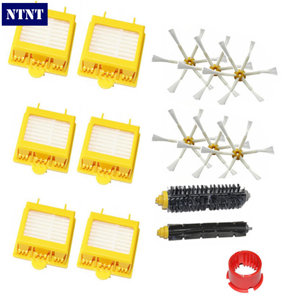 NTNT Free Post New For iRobot Roomba Hepa Filter 6 armed Side Brush tool 700 Series 760 770 780 free post new filters yellow hepa filter and side 3 armed brush for irobot roomba 700 series 760 770 780 790 cleaner tools set