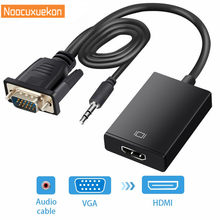 New Vfa Male TO HDMI Female Converter Adaptor Kabel dengan Output Audio 1080 P Vga HDMI Adaptor untuk PC Laptop untuk HDTV Proyektor R10(China)