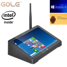 Windows 10 y Android 4.4 OS Dual Intel Z3735F Quad Core Mini PC de 7 Pulgadas 1280*800 IPS de la Tableta 2 GB RAM 32 GB/64 GB ROM
