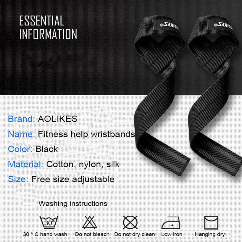 AOLIKES 2 шт./лот Спортивная поддержка запястья Профессиональный Регулируемый Фитнес-браслет для тяжелой атлетики бодибилдинга ремешок для спортзала защита запястья-2