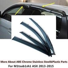 High quality Car cover Stick lamp plastic Window glass Wind Visor Rain/Sun Guard Vent 4pcs/set For Mitsubishi ASX 2013 2014 2015
