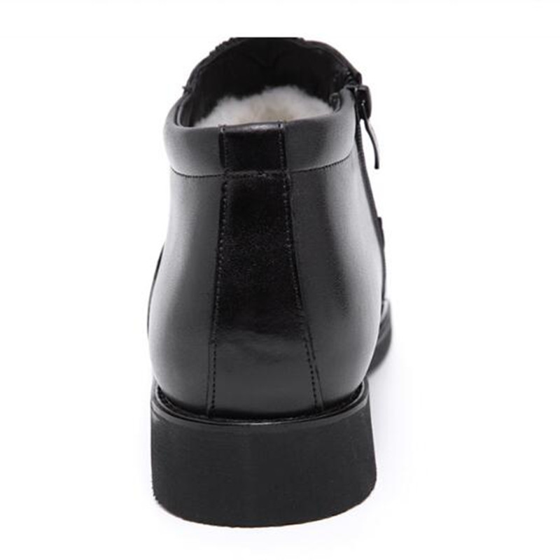 Black Zipper Plus Genuino Nuevos Botas Zapatos Lace Cuero Moda Alta Uno De Casual Los Nieve Calidad 2019 Hombres black Tamaño Invierno 46 wHZxU7Sqv