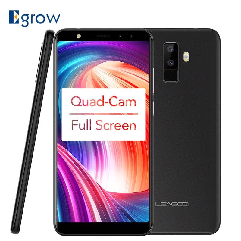 Leagoo M9 3G смартфон 5.5 18:9 полный Экран четыре-камеры Android 7.0 MT6580A 4 ядра 2 ГБ + 16 ГБ 2850 мАч отпечатков пальцев мобильный телефон