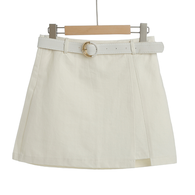 MingJieBiHuo A word package hip skirt spring and summer new Korean fashion ladies was thin irregular slit women girls skirt 1