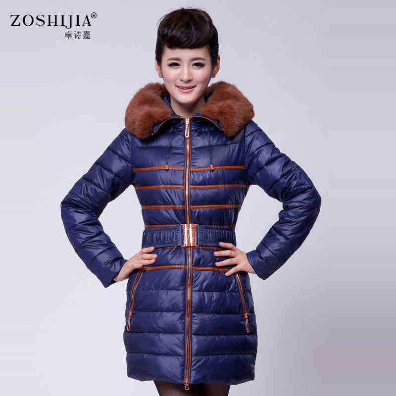 2015 New Hot Thicken Warm Winter Woman Down jacket Coat Parkas Outerwear Luxury Fur collar Hooded Long Slim Plus Size 2XXL 2015 new hot thicken warm woman down jacket coat parkas outerwear mid long plus size 2xxl luxury brand slim hooded red wine