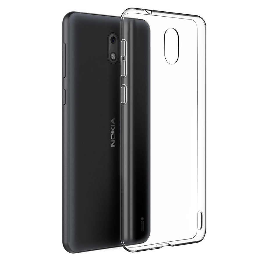 Oryginalne etui do Nokia 2.1 5.1 3.1X6 6 2018 6.1 7 plus 1 9 8 7 5 3 2 telefon przezroczysty przezroczysty miękki TPU slim przypadkach