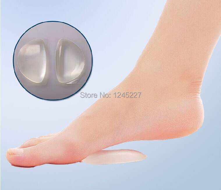 Silicone gel arch supports pad insoles relieve foot pain for flat  feet care inserts orthotics shoes non-slip free shipping orthotic insoles flat foot arch pad feet care relieve pain 3 4 length heel pad pu arch support insole orthopedics soles insert