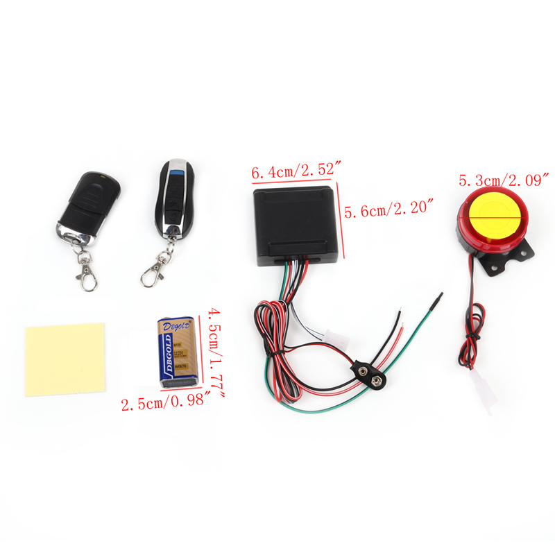 1PC Electrical Ignition Remote Control Engine Start 12V Anti-theft Security Alarm System Motorcycle Bike Motorcycle Parts