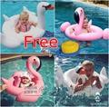 2016 Summer Baby Pink Flamingo Swimming Ring Inflatable Swan Swim Float Water Fun Pool Toys Swim Ring Seat Boat Kids Swimming