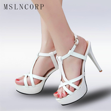 Plus Size 34-45 Stylish Women Sandals Fashion Platform Open Toe Thin High Heels Sandals Women Latin Shoes Elegant Pumps Sandals new stylish women sandals 2017 open toe thin heels sandals high quality multicolors shoes woman plus us size 4 15