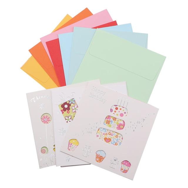 Aliexpress Buy 6card 6envelope Lot Cartoon Mini Greeting