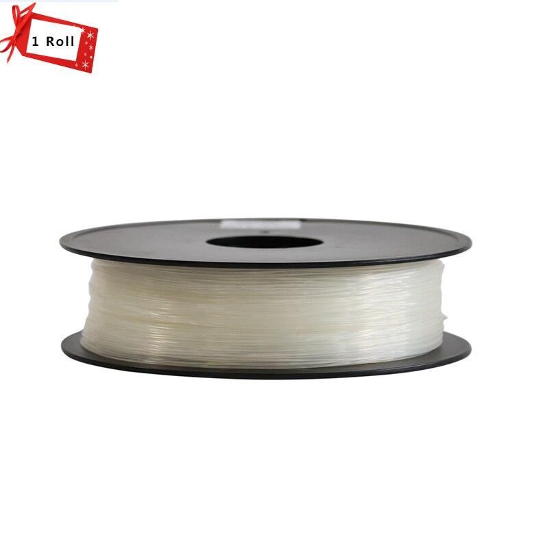 Transparent Color 1KG/Roll PLA/ABS 1.75mm plastic Rubber Consumables Material MakerBot/RepRap for 3D printer and 3D pen