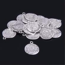 Винтажные подвески-подвески Vinswet из сплава серебра для браслетов, изготовление ювелирных изделий, самодельные Подвески ручной работы, 20 шт 23*18 мм