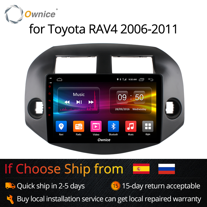 Ownice K1 K2 Octa 8 Core 2 Din Android 8.1 Voiture 2 din Radio lecteur GPS soutien DVR 4G pour Toyota RAV4 2007 2008 2009 2010 2011