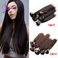Vigrin Cabelo peruano Bundles 6 pçs/lote total 200g Feixes Feixes de cabelo preço Barato Reta de Seda Do Cabelo humano Em Estoque