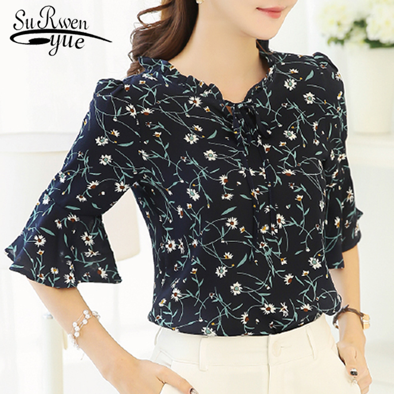 HTB1O4Ftlr5YBuNjSspoq6zeNFXap new 2018 summer short sleeve women's clothing fashion plus size 5XL Chiffon women blouse Shirt loose woemn's tops blusas 60A 30
