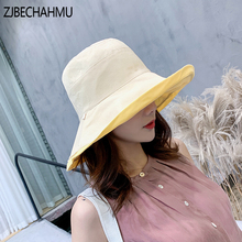 Casual Sun Hats For Women Solid Cotton Summer Cap Outdoor Beach for Breathable Sunhat UV Protection