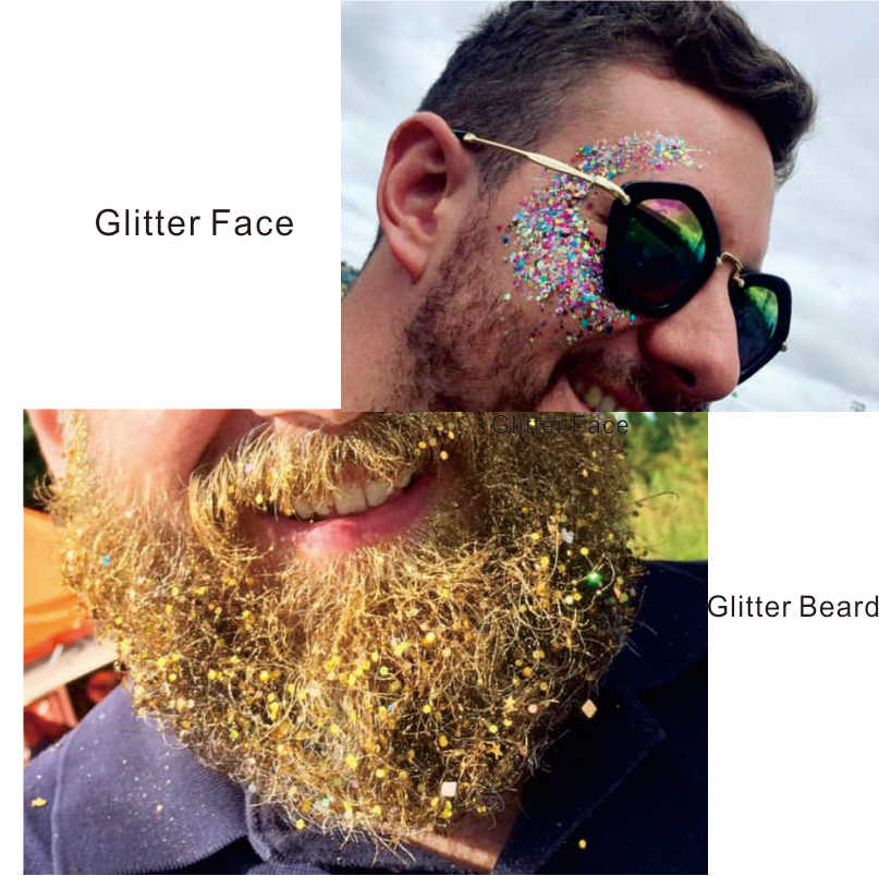 Gl16 One Pack Of Green Under The Sea Chunky Eye Glitter Hair Body Sequins Decorations Festival Body Dance Makeup Body Art Makeup Body Art Body Artmakeup Art Aliexpress