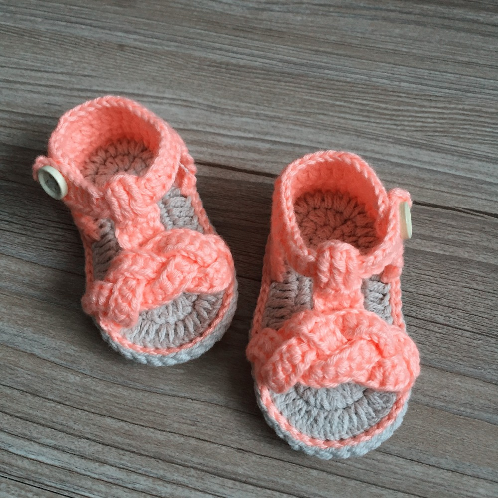 QYFLYXUE  Free Shipping Crochet Baby Shoes,,Sizes 0-12 Months Hand-woven Baby Toddler Shoes