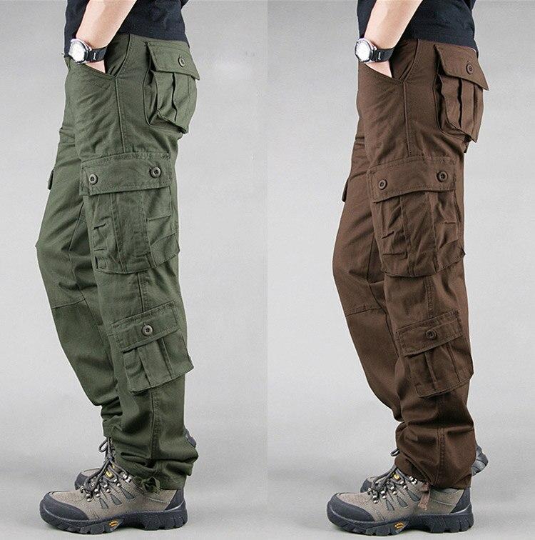 19 Spring Winter Military Pants Men Khaki Cargo trousers Casual Cotton Tactical Pants Men Big Size Army Overol Hombre 5