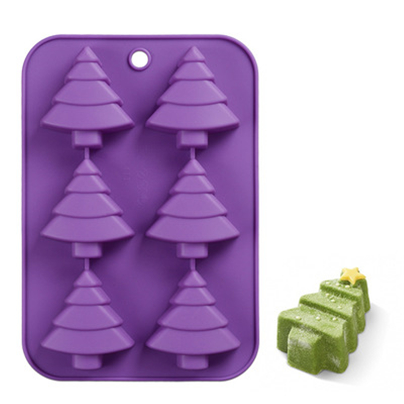 3D Christmas Tree Shape Silicone Soap Mold Handwork DIY Pudding Jelly Mold High Quality Kitchen Accessories Easy Clean Durable
