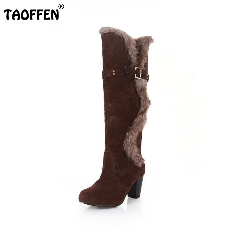 Size 34-43 Gladiator Snow Boots Women Square Heels Half Short Boot Lady Warm Plush Winter Boots Sexy Leisure Shoes Woman fashion beige woman snow boots winter square heels round toe sexy pu winter shoes for lady high heels plus size 34 43
