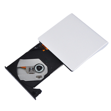 Ultra Slim External USB 3.0 CD DVD DVDRW 8X DVD-R 48X CD-R External DVD Burner Writer Drive For Laptop White