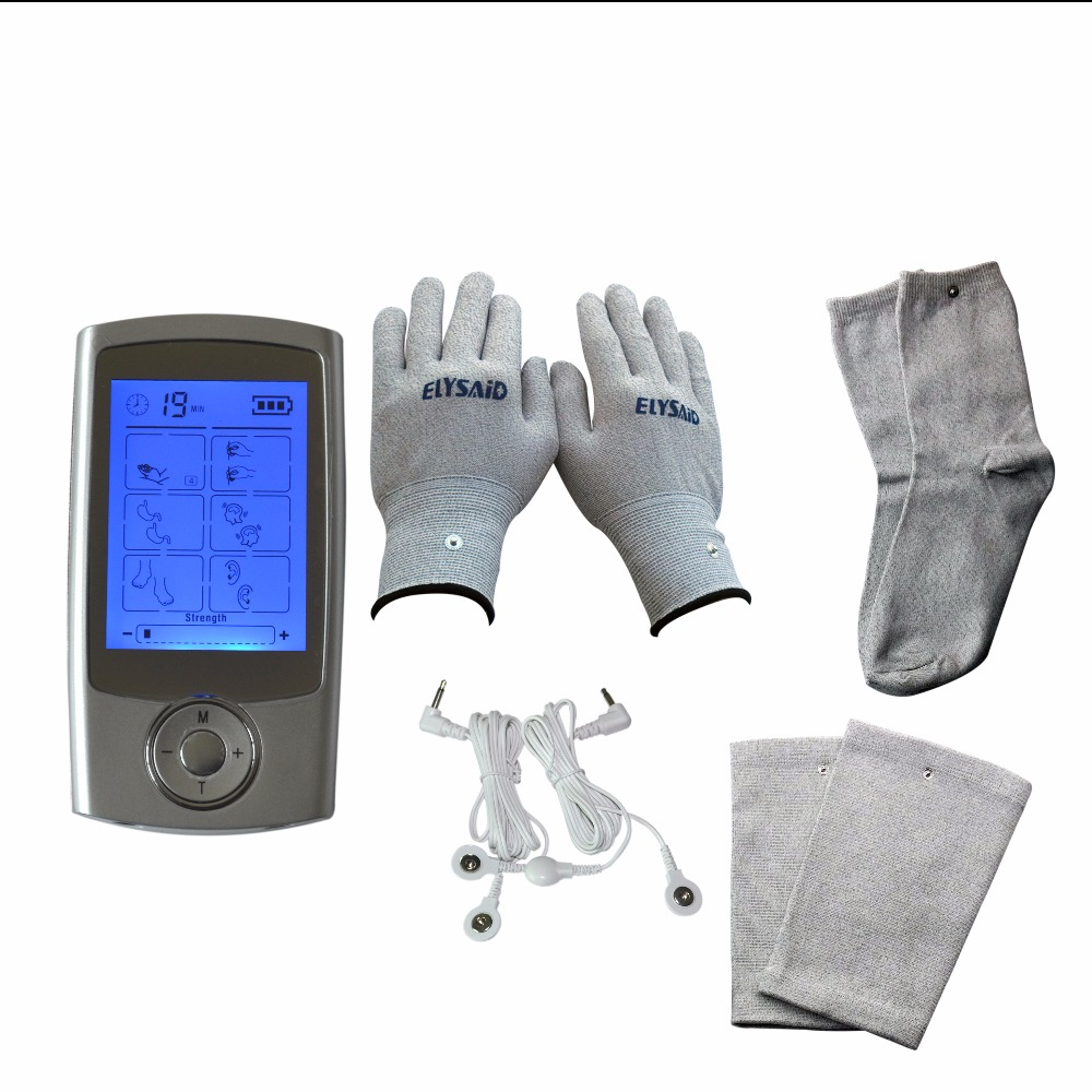 New TENS 16Modes Multiplle Physiotherapy Pain Smoothing Massager+1 Set Physiotherapy Gloves Knee Pads Socks xft 320a electrical stimulator tens healthcare physiotherapy pains relax smoothing electrical massager physiotherapy knee pads