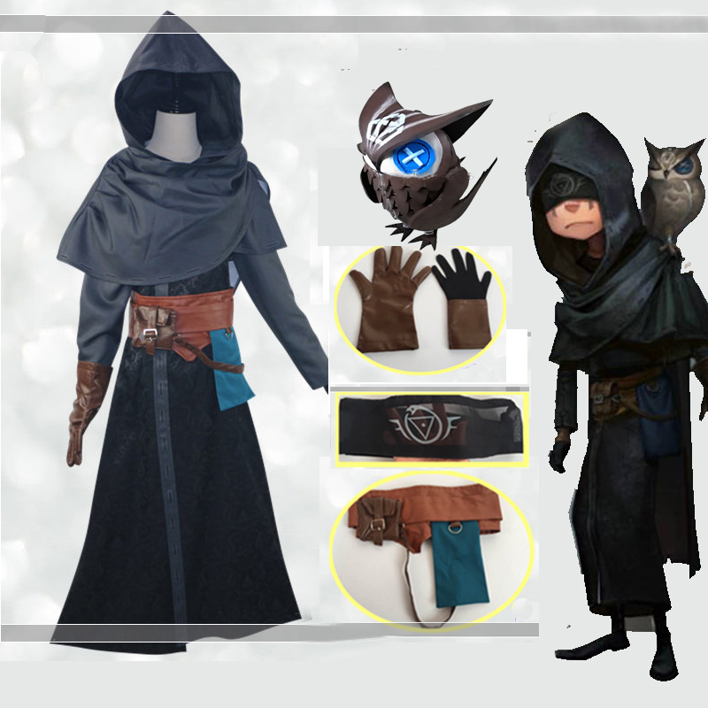 Game Identity V Prophet Cosplay Costume Full Set Uniform Owl Cloak Windbreaker Bag Box Outfit Set Cos Props