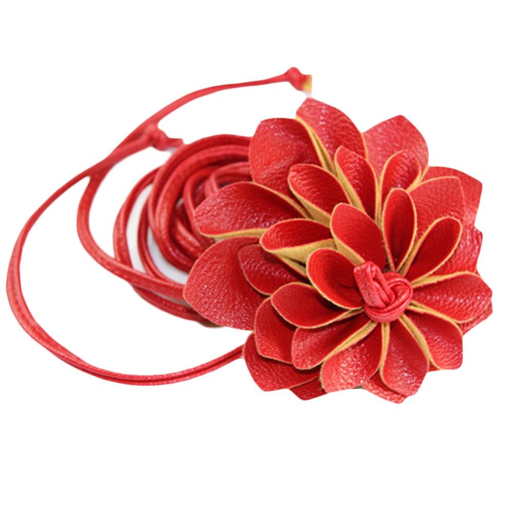 Fashion Lady Leater waistband Stretch Elastic Wide   Belt   three-dimensional Waist   Belt   Clothing Accessories Flower