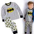 Детские мальчиков пижамы набор 100% хлопок Бэтмен pijamas deguisement enfant гарсон vetement enfant мальчики и девочки одежда наборы 2-7 Т