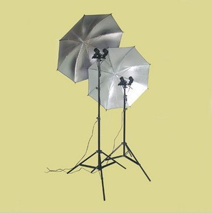 flash light photo kit photo studio flash Bags clothes photography light 2 stands 2 twin-lamp head 2 umbrella background no00dc