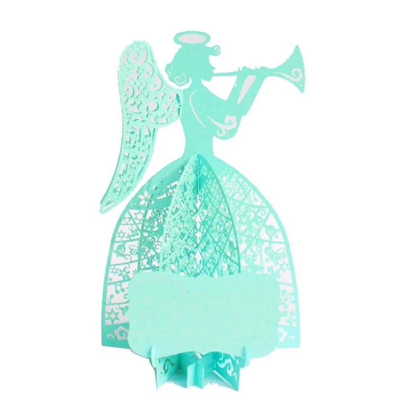 Perfect-3D Greeting Card Merry Christmas The angels play music 3D Cards Wedding Lover Happy Birthday Anniversary Greeting Card
