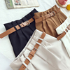 CamKemsey Korean Brief Design White Suit Shorts For Women 2019 Fashion Solid High Waist Wide Leg Shorts With Belt 5 Colors 9