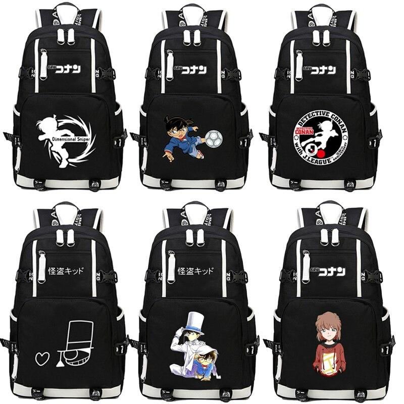 Japan anime Detective Conan Backpack men women student bookBag Travel bag shoulder bag Backpack anime tokyo ghoul cosplay anime shoulder bag male and female middle school student travel leisure backpack