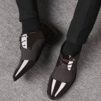 Business Luxury Mens Shoes - Breathable PU Leather 4