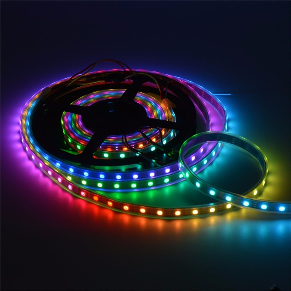 1set 5M ws2812 dream color led strip RF 14keyRGB Controller,individually addressable smart build in IC pixel colorful led strip