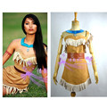 2016 New Style Movie Pocahontas Princess Cosplay Costume Dress For Women Clothing