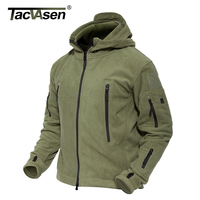 TACVASEN Winter Military Fleece Jacket Warm Men Tactical Jacket Thermal Breathable Hooded Men Jackets And Coat