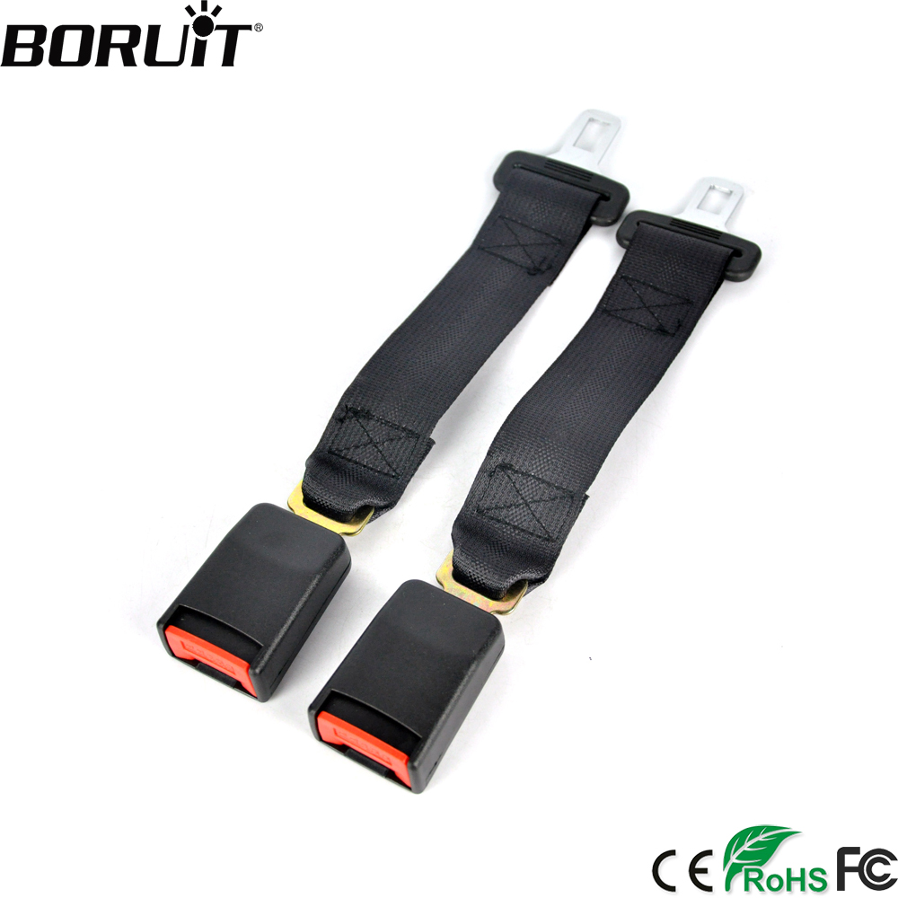 BORUiT Universal 36cm Car Auto Seat Belts Safety Belt Webbing Extender Seatbelt Extension Buckle Seat Belts Padding Extender belt