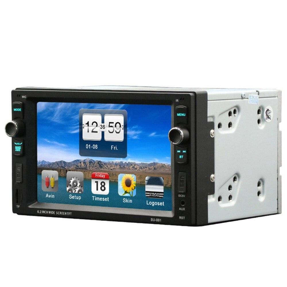 HD 6.2 дюймов автомобиля mp3 MP4-плееры со светодиодной Экран Поддержка карты чтения Функция и Bluetooth Hands-Free вызов и автомобиля подкладка первый ...