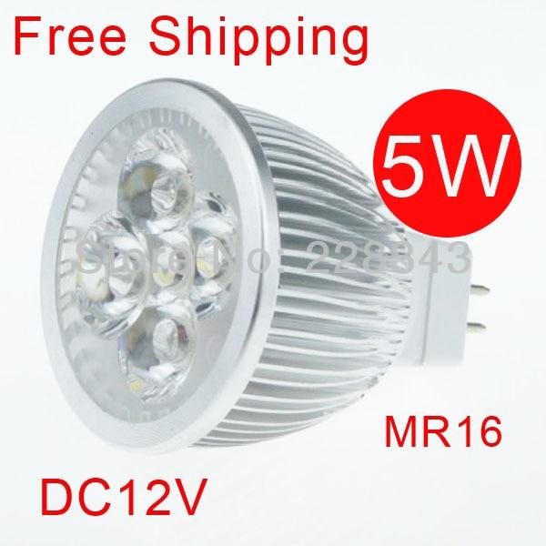 Transporti falas 6PCS 5W AC DC 12V LED Llambë e bardhë e ngrohtë - Ndriçim LED