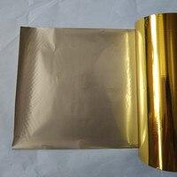 (2 rolls/lot) hot stamping foil metallic pressa a caldo su carta di carta o plastica color oro 16 cm x 120 m stampaggio a caldo pellicola