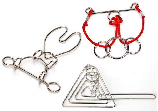 3PCS / Set IQ Magic Metal Wire Puzzle Tradicionalni obrazovni um - Igre i zagonetke - Foto 3